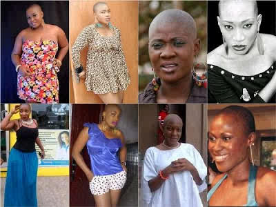 Which Of These Nollywood Actress Rock Bald Head Best