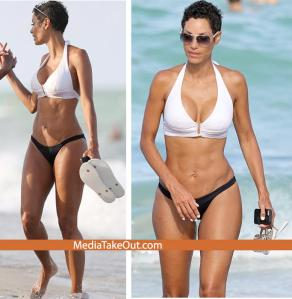Eddie Murphy's Ex Nicole Murphy Is Photo'd In A Bikini . . . There Are A Few WAVES AND WRINKLES ON THE CAKES . .