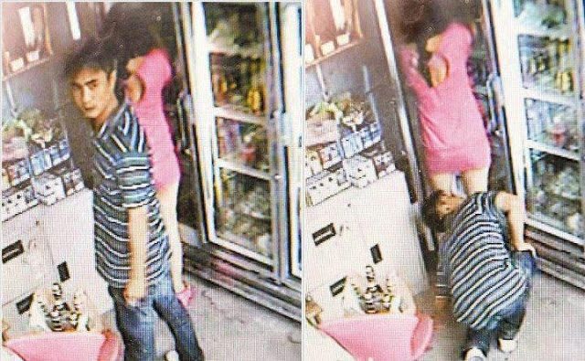 Man Caught Spying A Girl,s Under Skirt In Front Of A Shop(photo)