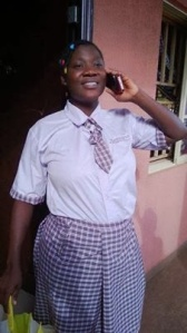 Mercy Johnson playing the role of a student. Lol
