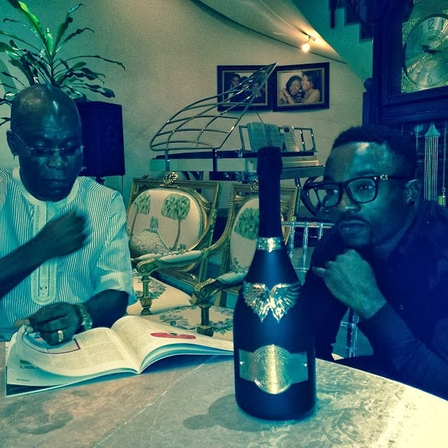 Iyanya Poses With The Real Most Expensive Champagne In The World 'Gout De Diamants' (Photos)