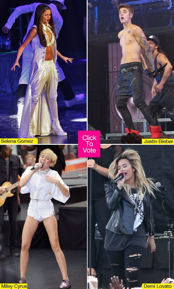 Selena Gomez, Miley Cyrus & Justin Bieber Compete For YouTube Awards