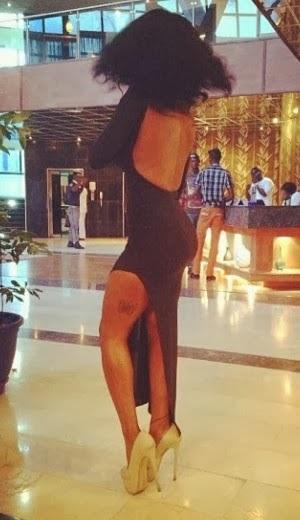 Karen Igho steps out in waist high slit dress at comedy concert