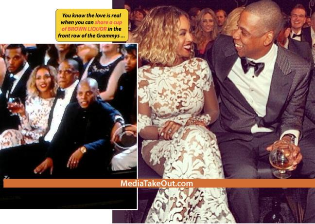 Beyonce And Jay Z. Shares a gLass of Liquor. LoL