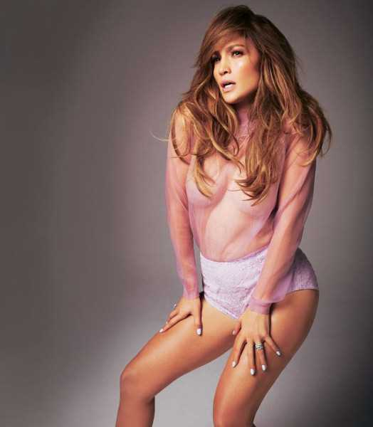 HOT PHOTOS: JLo Goes Braless In See-Through Top For Glamour Magazine